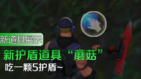"""新护盾道具""""蘑菇""""使用视频"""